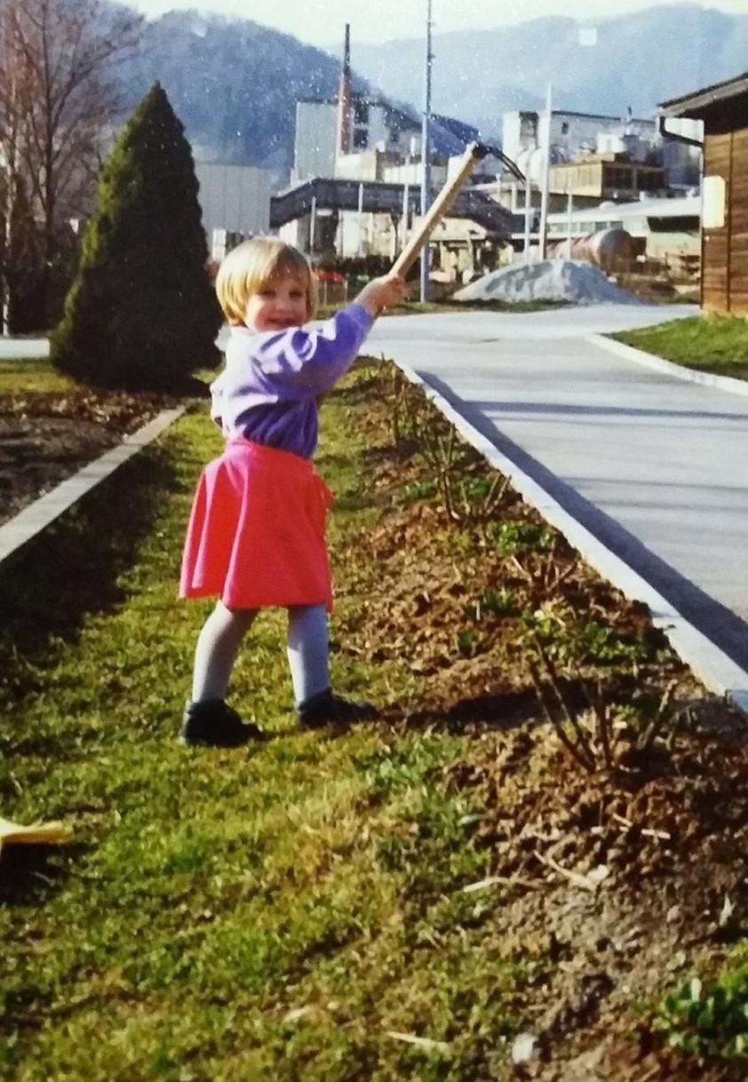 Mlada vrtnarka Tjaša