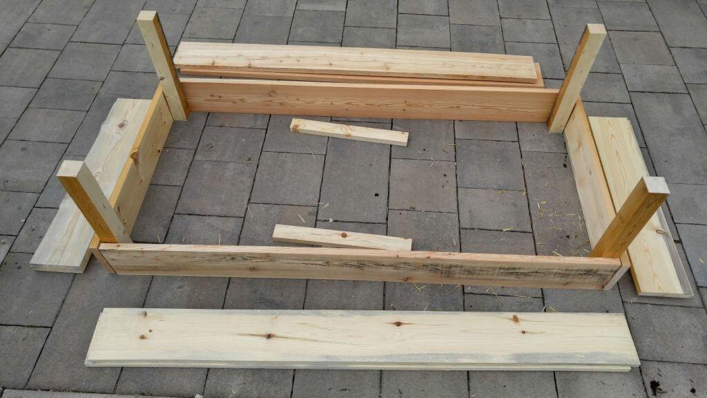 Pripravljen les za visoko gredo