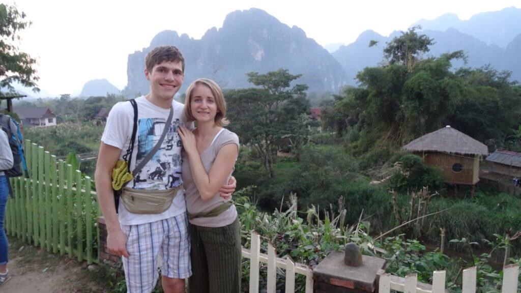 Robert in Tjaša v Laosu