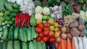 Obilje zelenjave na tržnicah