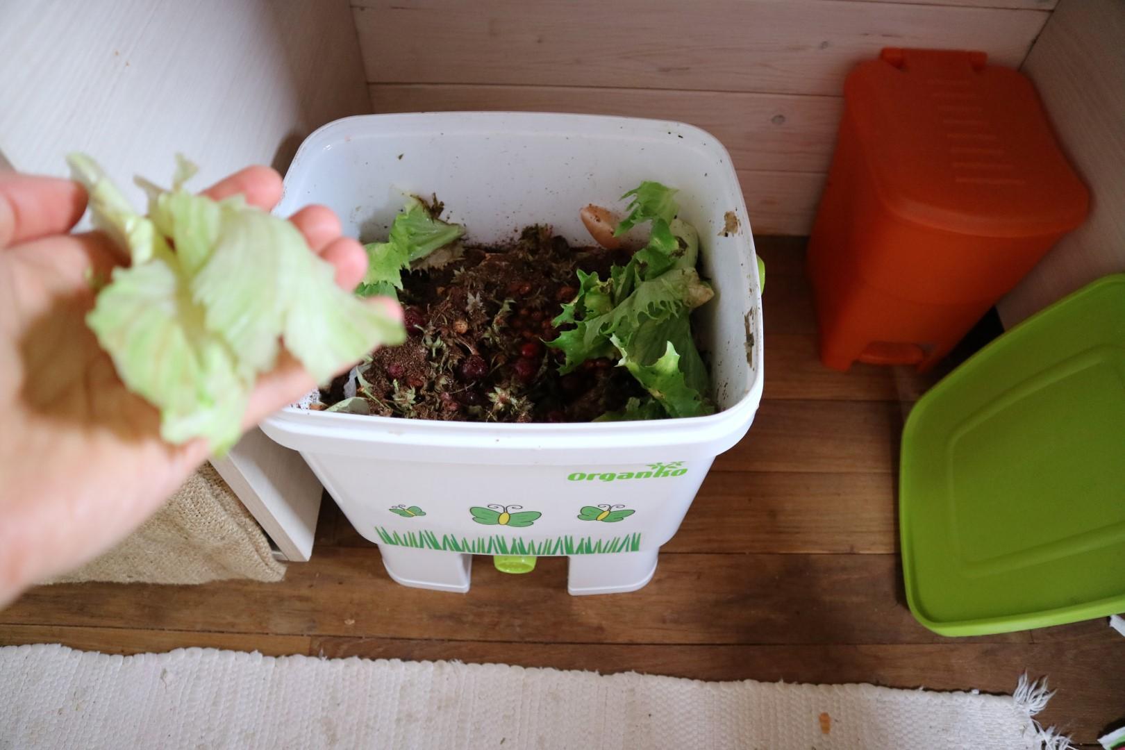 Bokashi organico za zbiranje odpadkov in predkompostiranje
