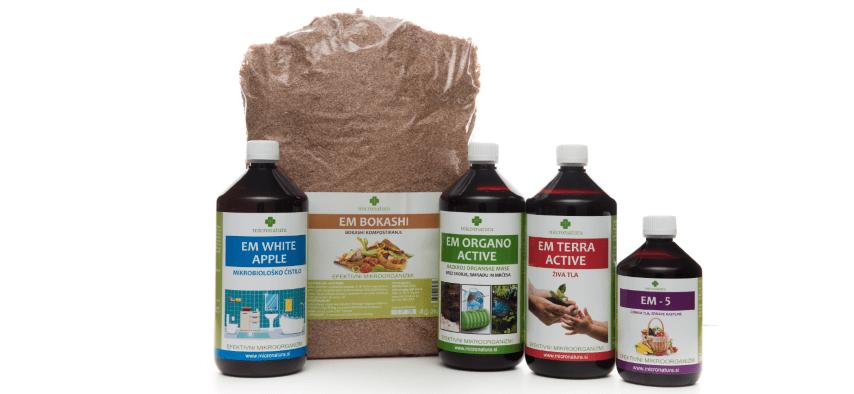 EM micronatura izdelki uporaba vrt obilja