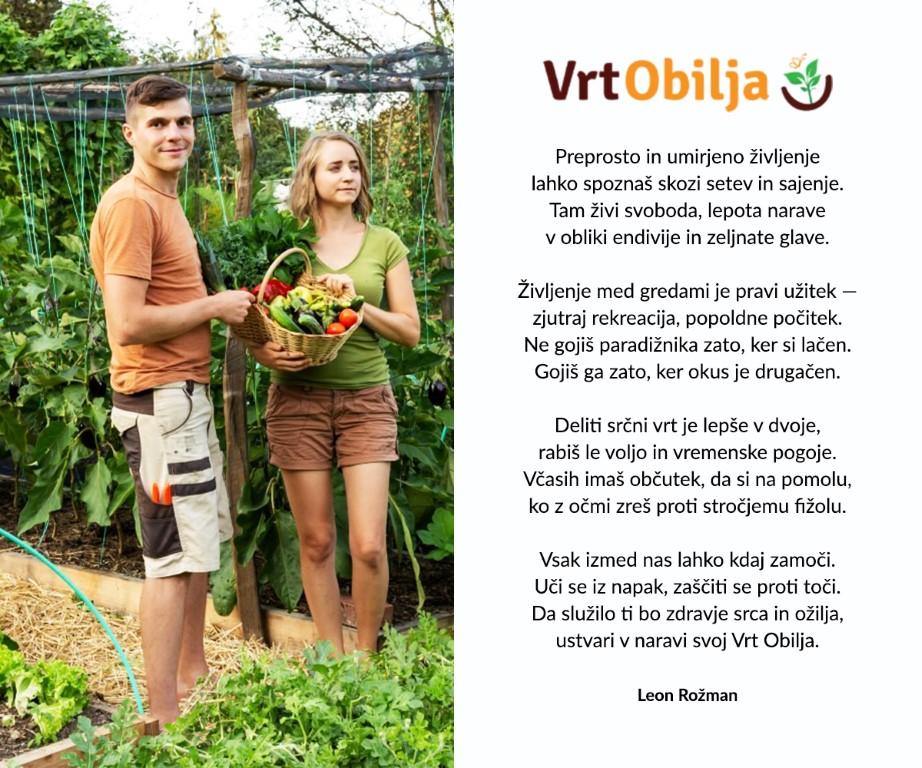 Vrt Obillja predstavitev in pesem