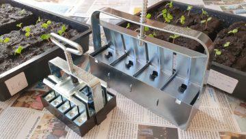 Substratnik izdela sadilne kocke za vzgojo sadik